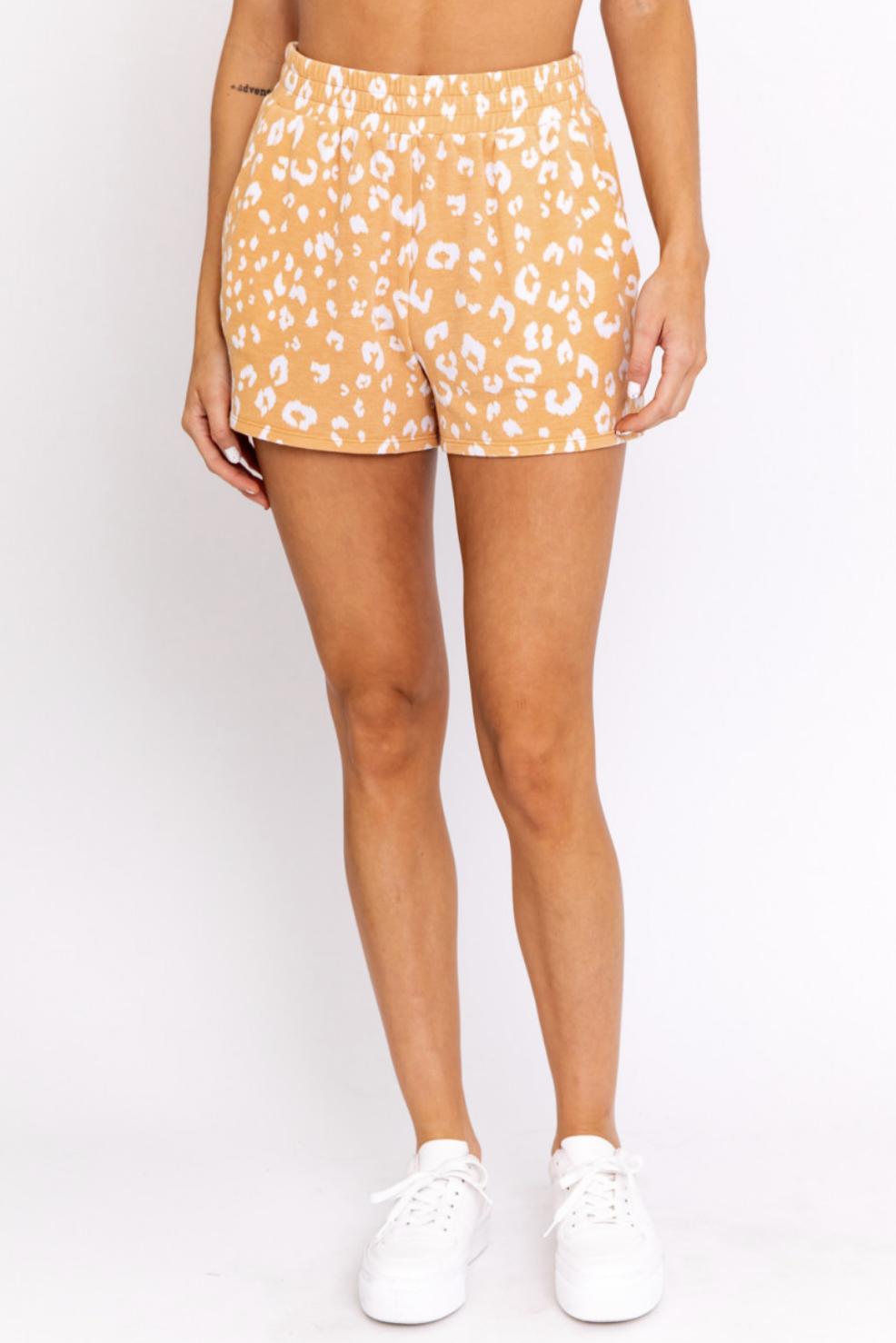 Orange Animal Side Slit Short