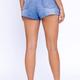Pleat Detail Denim Shorts
