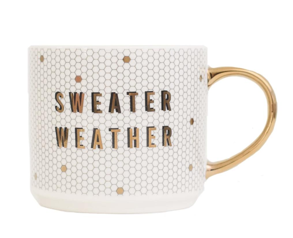 Sweater Weather Tile Coffee Mug