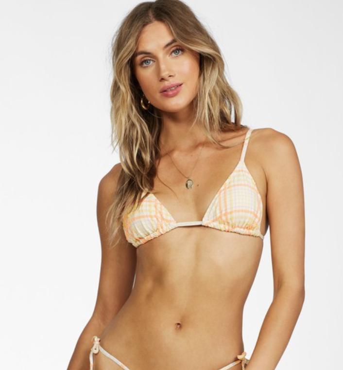 Billabong Pretty In Plaid Bikini Set
