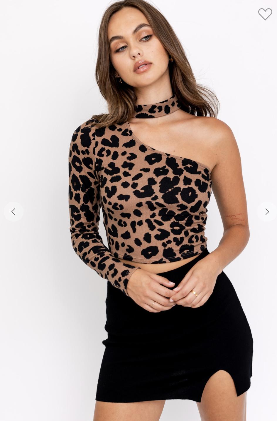 Leopard Mockneck Top