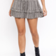 Gingham Tiered Skirt