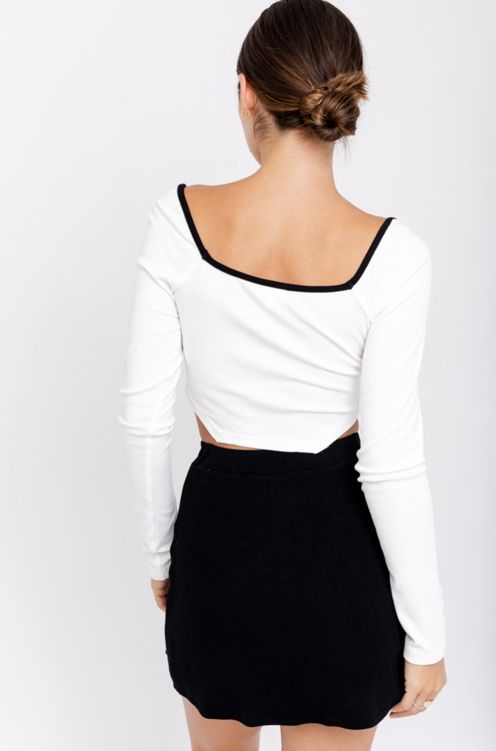 Corset Style Ribbed Top