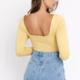 Yellow Twist Front Bodysuit