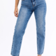 Double Button High Rise Jeans