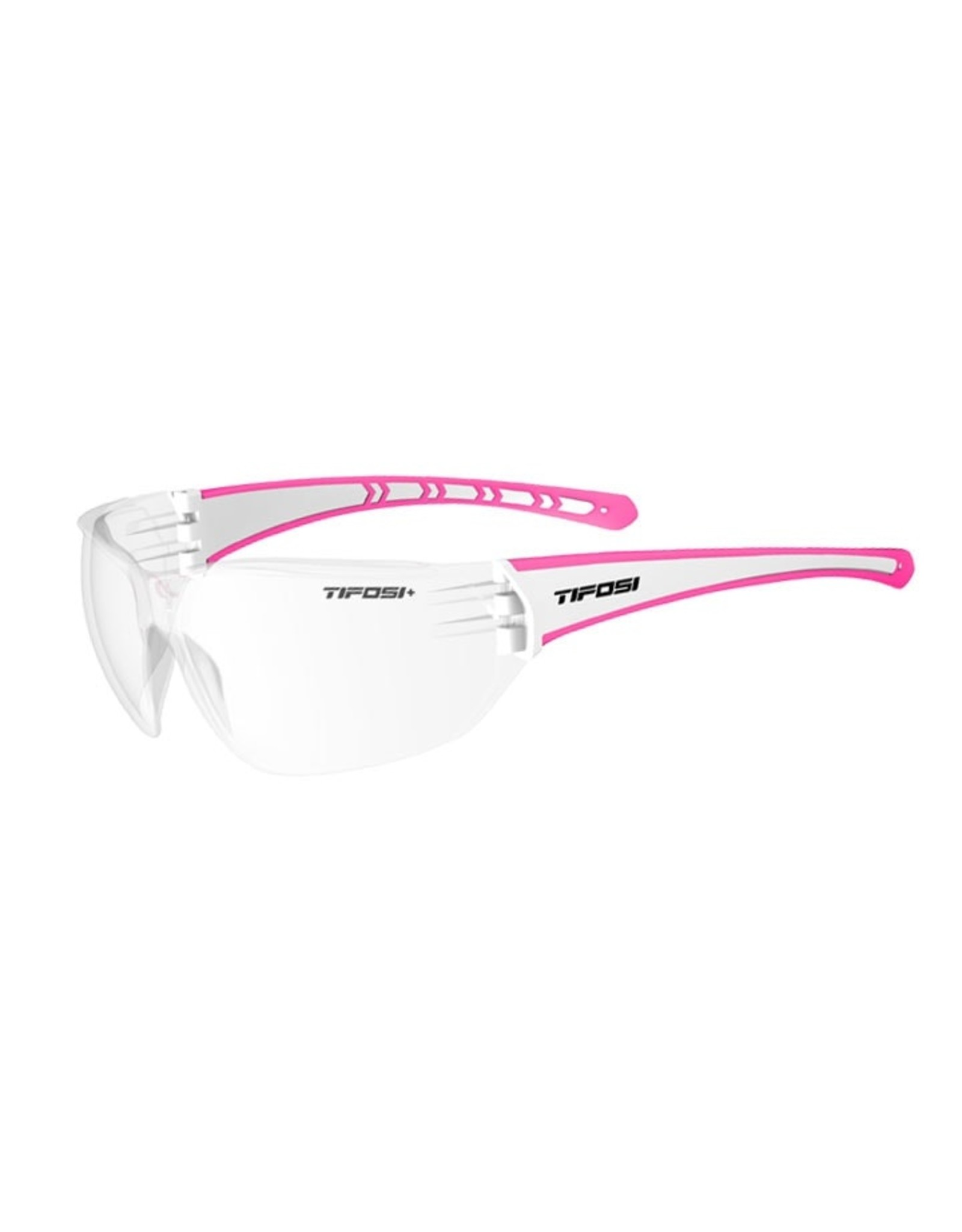 Tifosi Optics Z87.1 Masso, Neon Pink Tactical Safety Sunglasses - Clear