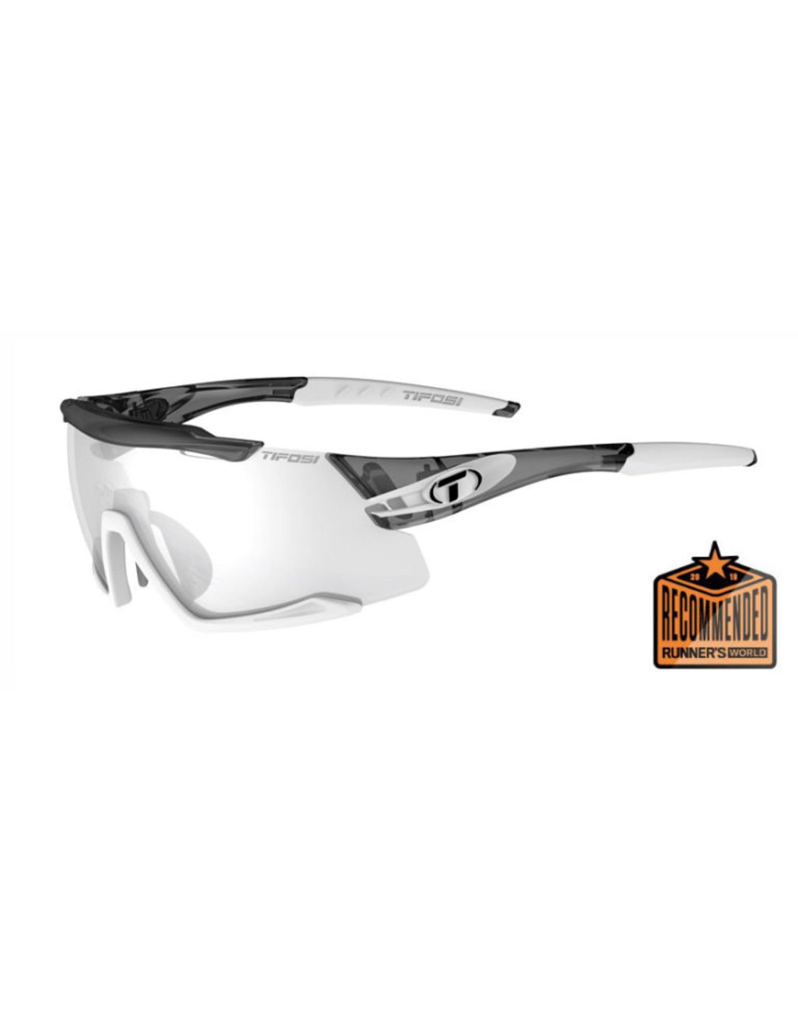 Tifosi Optics Aethon, Crystal Smoke/White  Fototec Sunglasses - Light Night Fototec