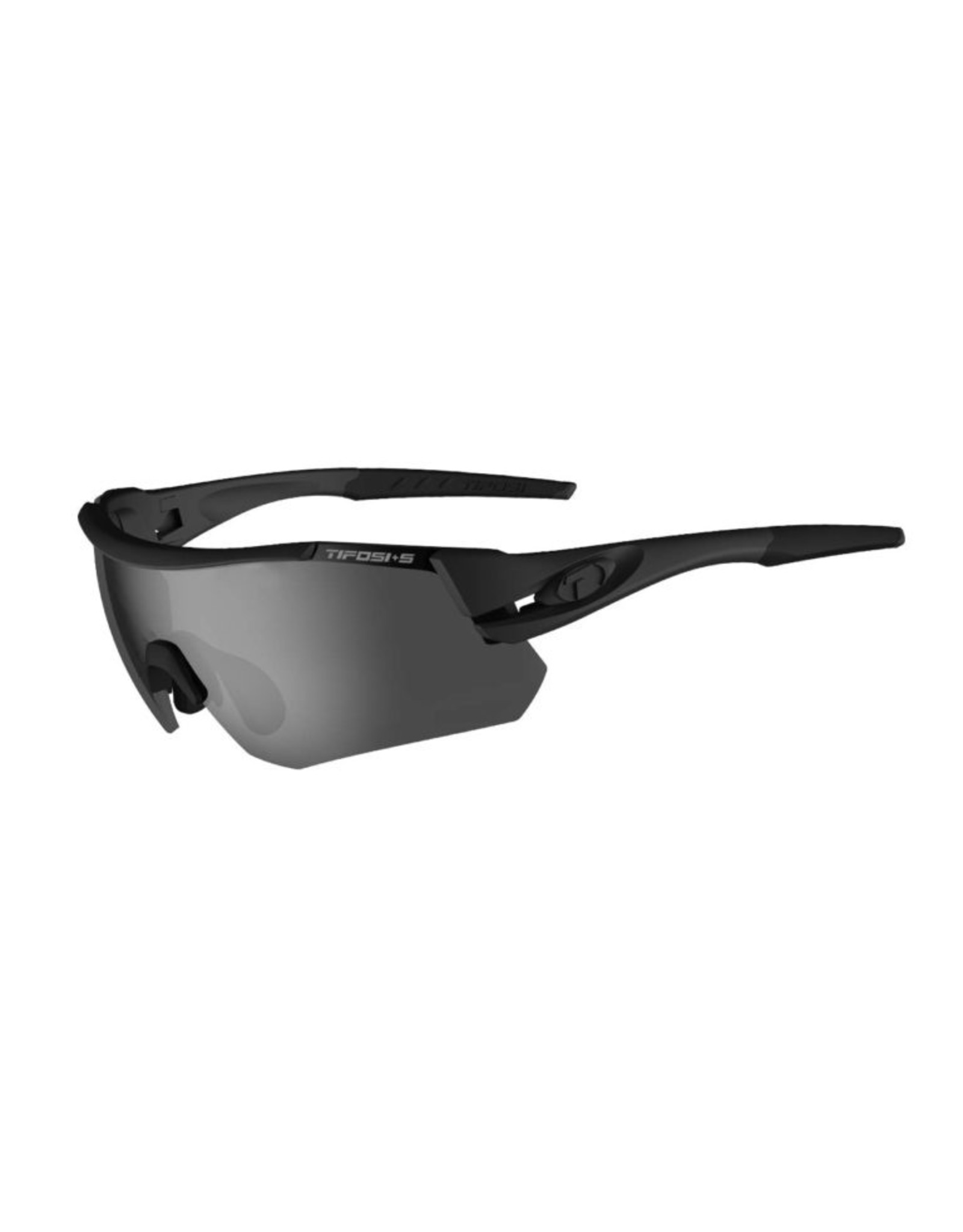 Tifosi Optics Z87.1 Alliant, Matte Black Tactical Safety Sunglasses - Smoke/HC Red/Clear