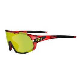 Tifosi Optics Sledge, Crystal Red Interchangeable Sunglasses - Clarion Yellow/AC Red/Clear