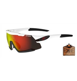 Tifosi Optics Aethon, White/Black  Interchangeable Sunglasses - Clarion Red/AC Red/Clear