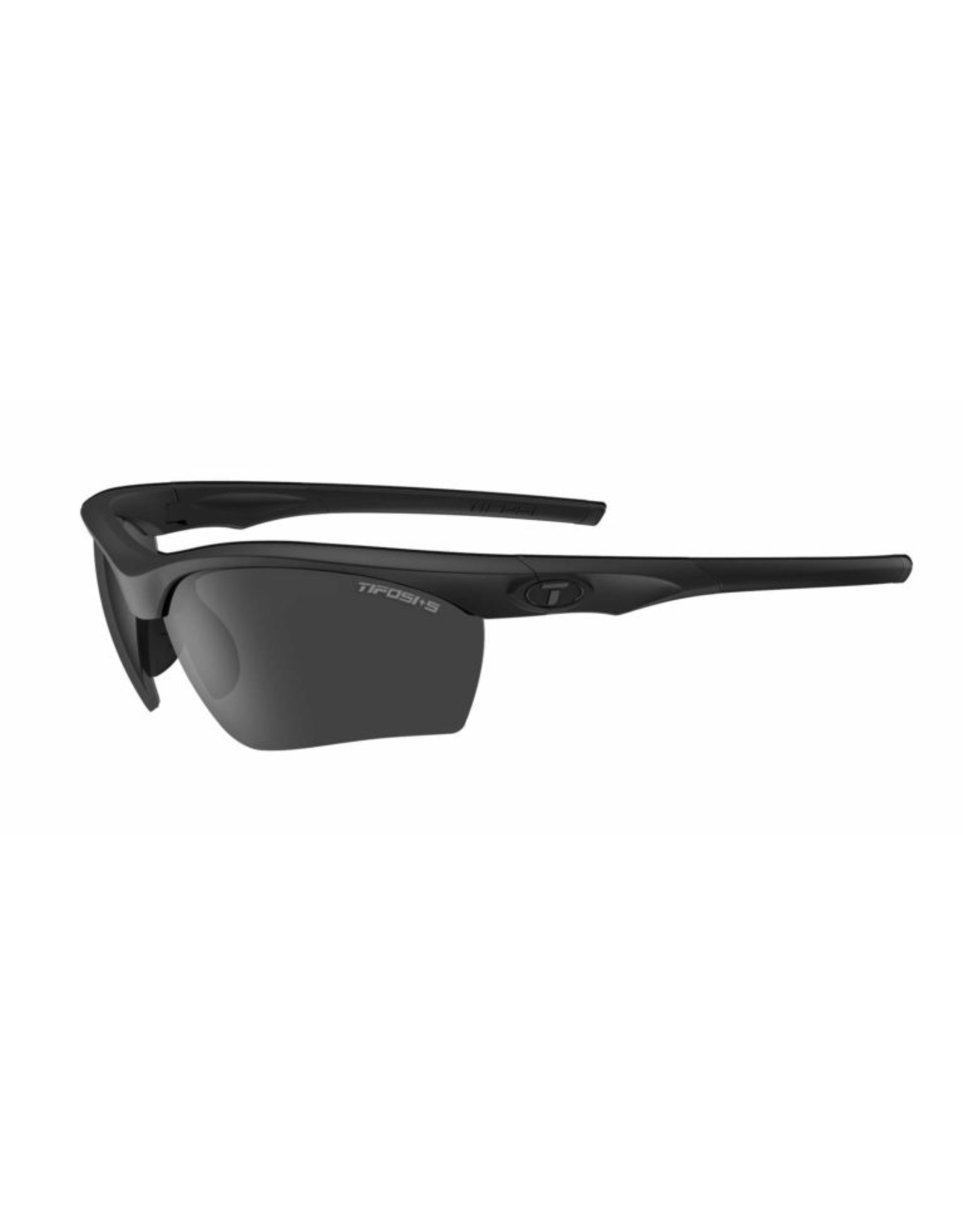 Tifosi Optics Z87.1 Vero, Matte Black Tactical Safety Sunglasses - Smoke/HC Red/Clear