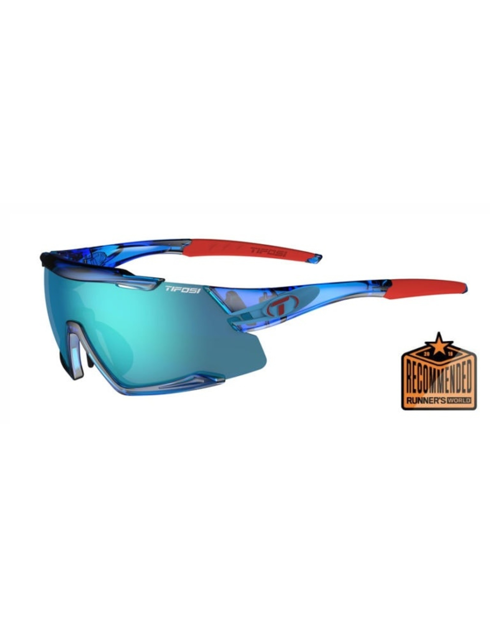 Tifosi Optics Aethon, Crystal Blue  Interchangeable Sunglasses - Clarion Blue/AC Red/Clear