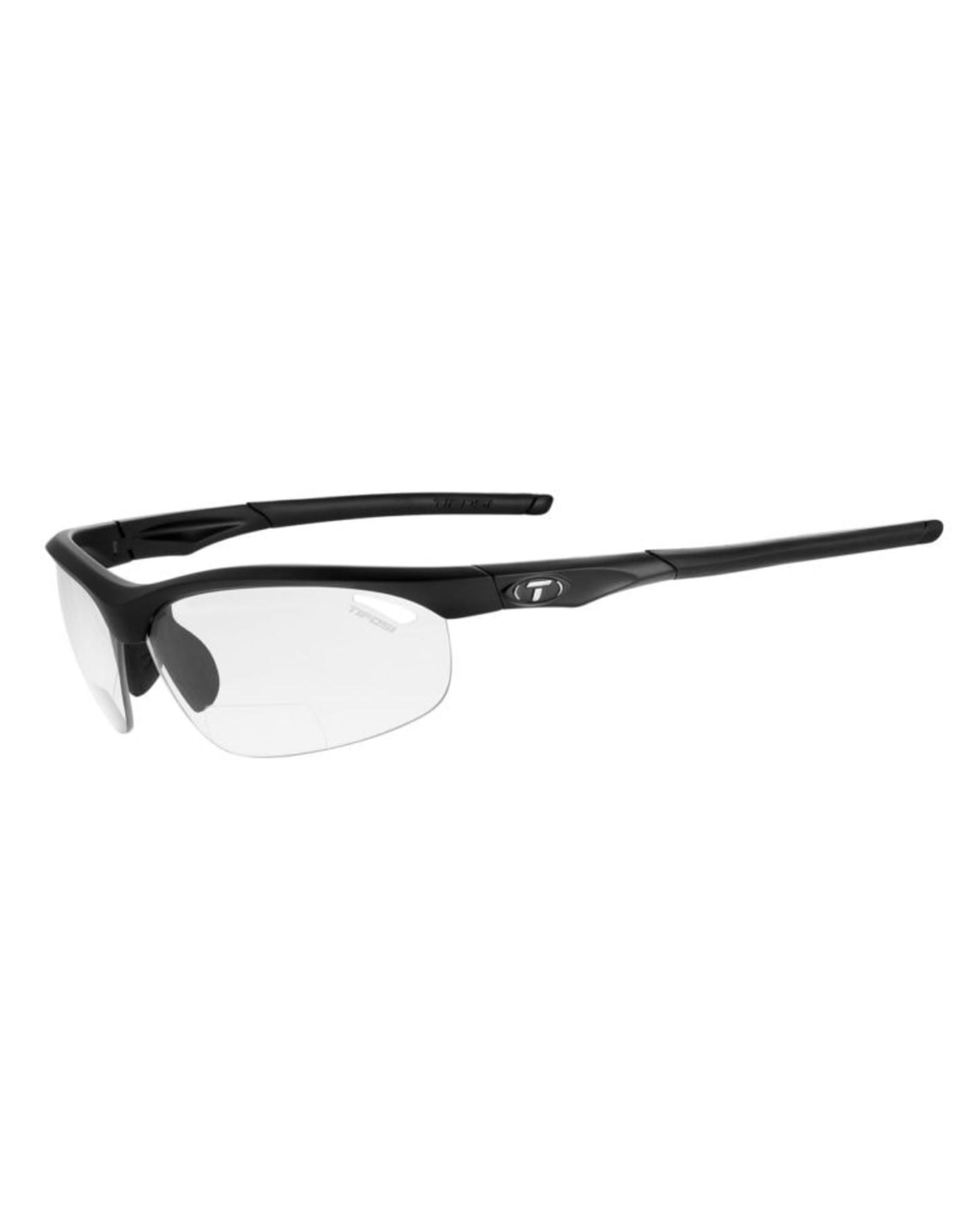 Tifosi Optics Veloce, Matte Black Foto +2.0 Reader Lens Sunglasses - Light Night Fototec +2.0