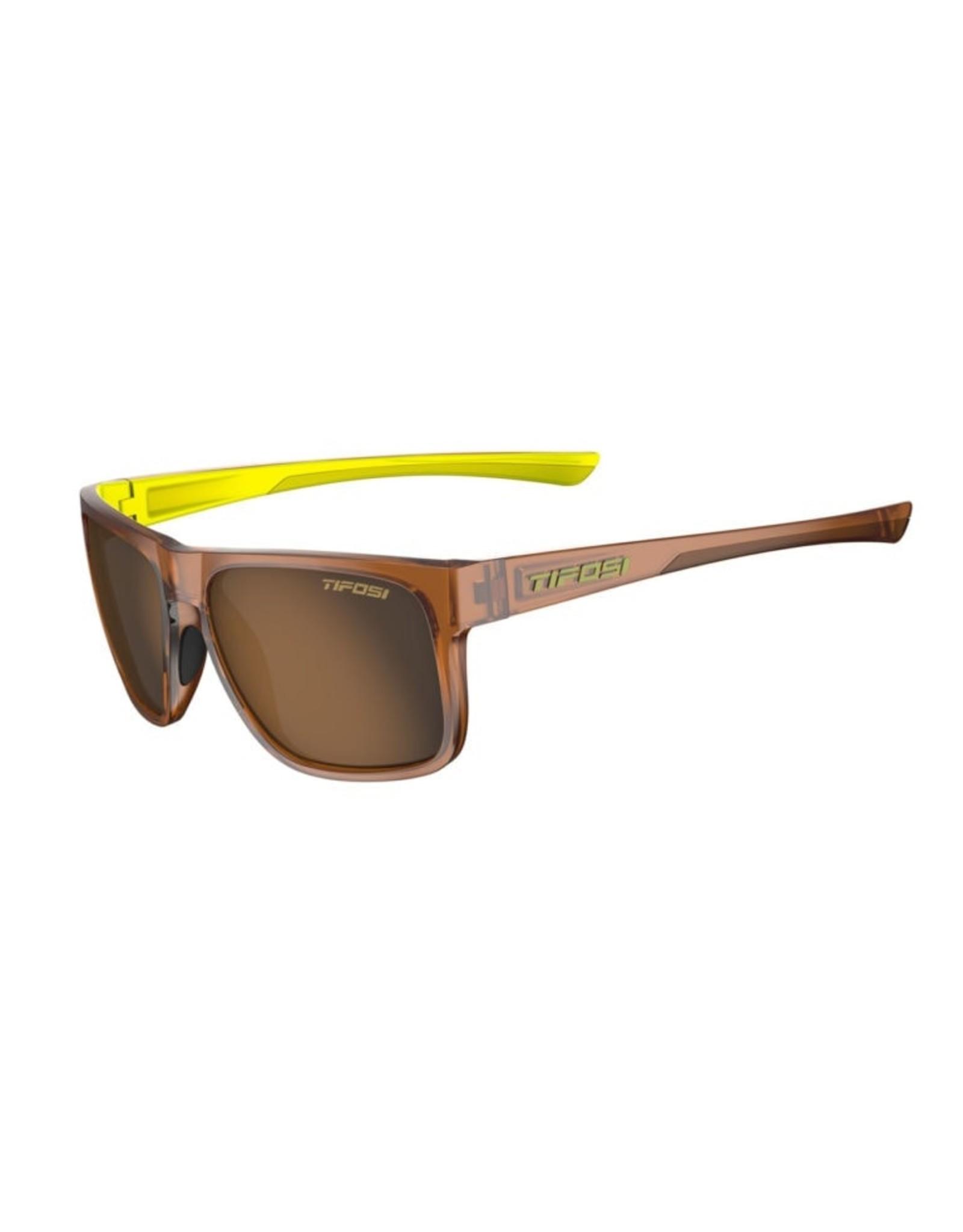 Tifosi Optics Swick, Caramel/Neon Polarized Sunglasses - Brown Polarized