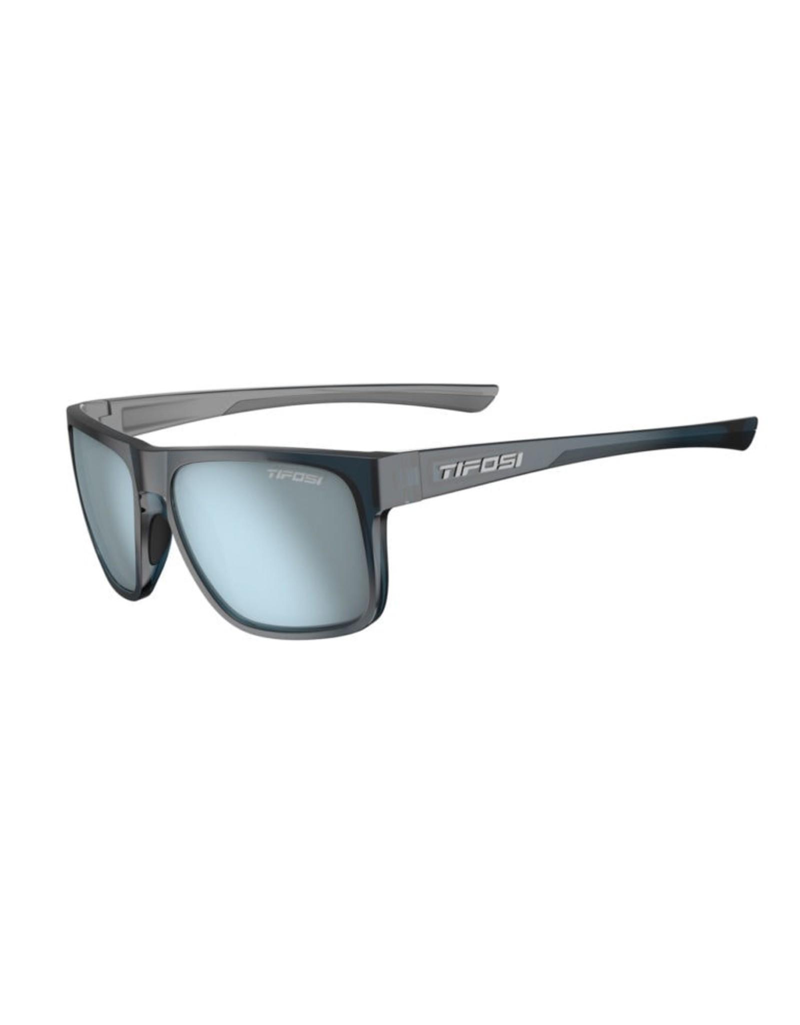 Tifosi Optics Swick, Midnight Navy Single Lens Sunglasses - Smoke Bright Blue