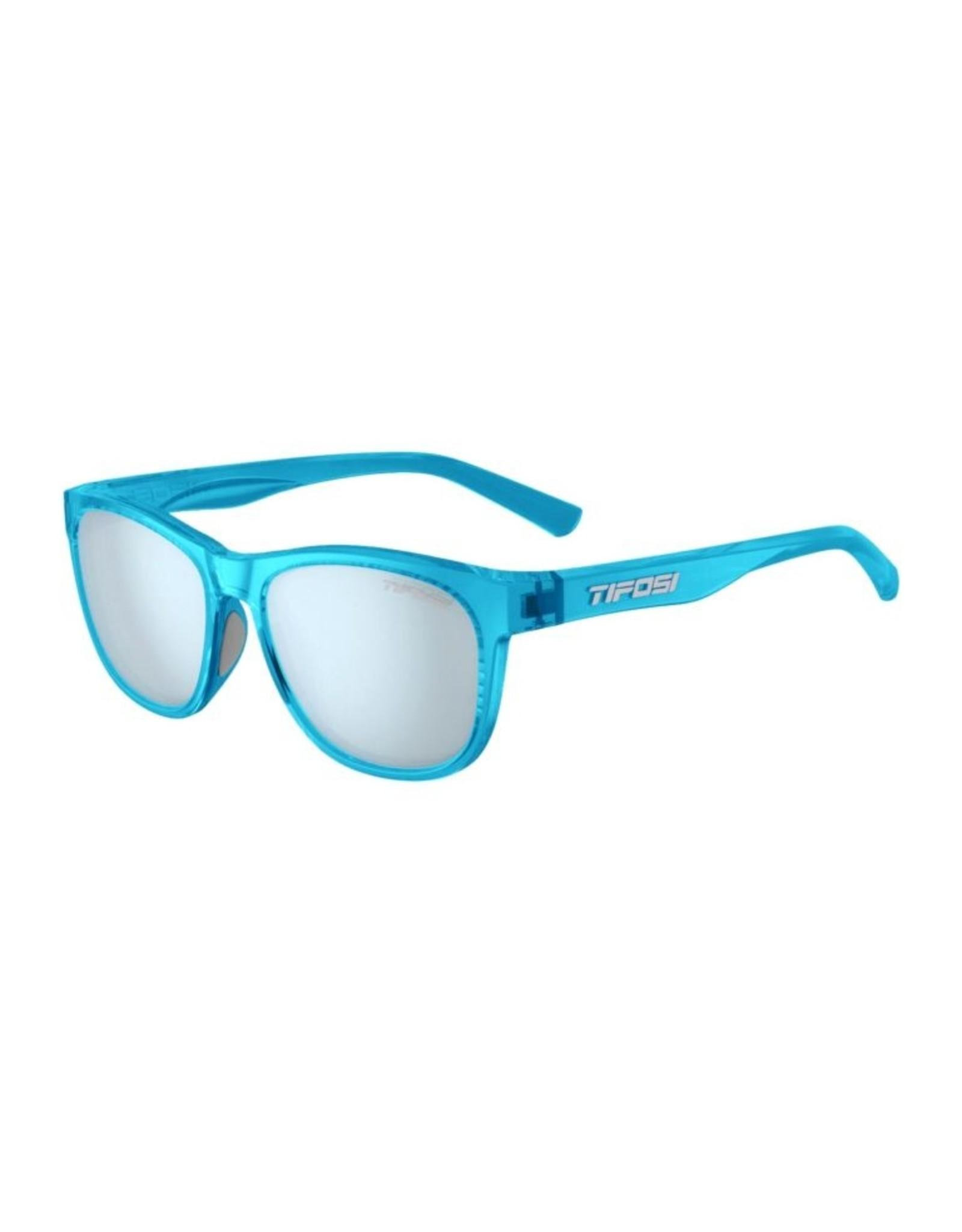 Tifosi Optics Swank, Crystal Sky Blue Single Lens Sunglasses - Smoke Bright Blue