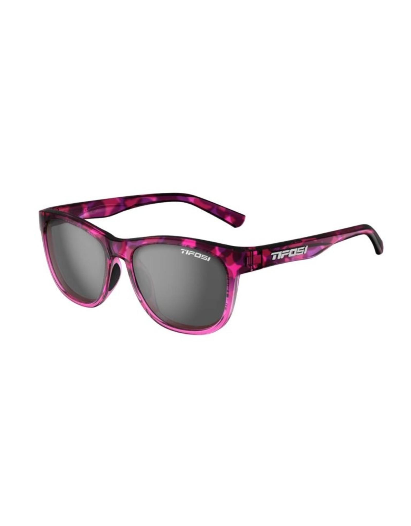 Tifosi Optics Swank, Pink Confetti Single Lens Sunglasses - Smoke