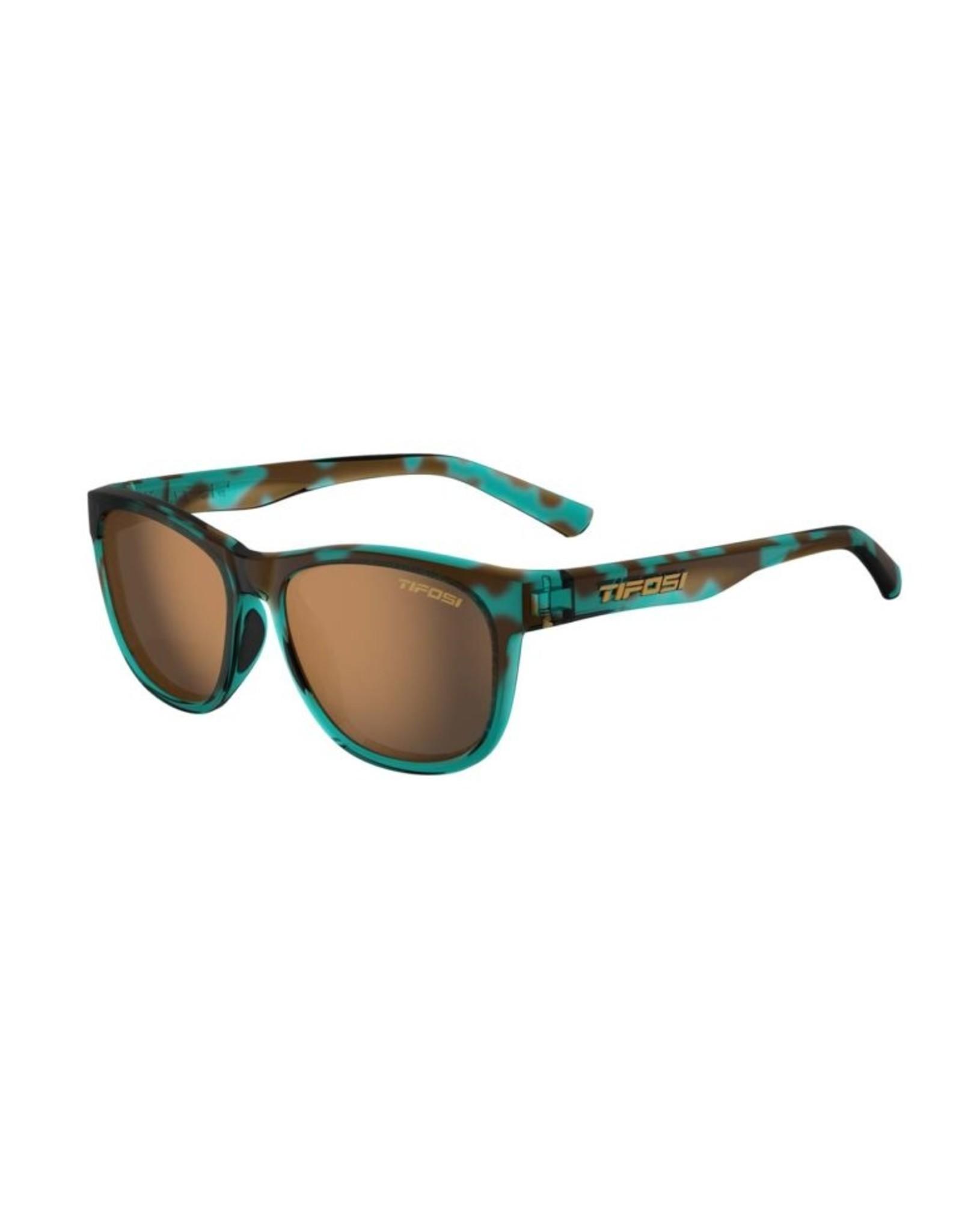 Tifosi Optics Swank, Blue Confetti Polarized Sunglasses - Brown Polarized