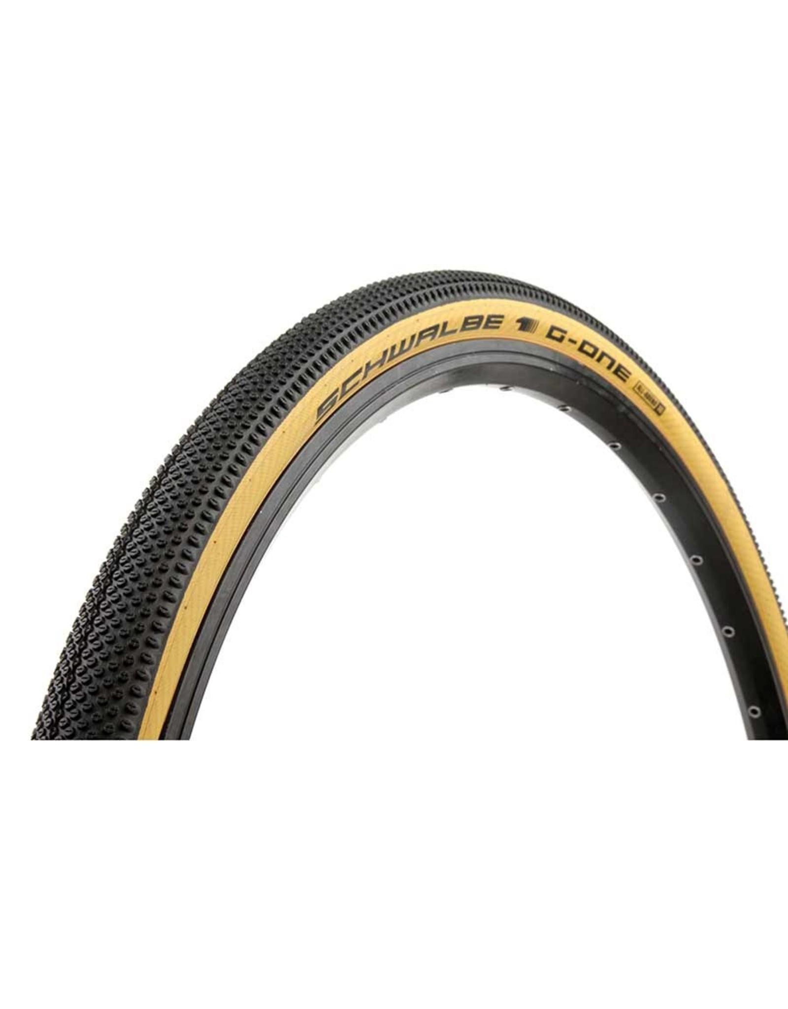 SCHWALBE Schwalbe, G-One Allround, Tire, 700x38C, Folding, Tubeless Ready, Addix, RaceGuard, 67TPI, Tanwall