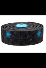 Supacaz Supacaz, Super Sticky Kush - Galaxy, Handlebar Tape, Neon Blue Print