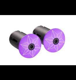 Supacaz CRD-Supacaz Star Plugz, Neon Purple Powder coated /set