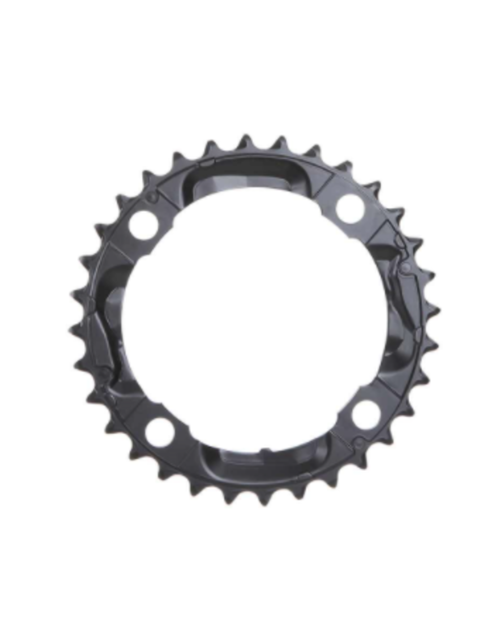 Shimano Shimano, Y1LD98090, 36T, 9sp, BCD: 104mm, 4 Bolt, Deore FC-M590, Middle Chainring, For 26/36/48, Aluminum, Black