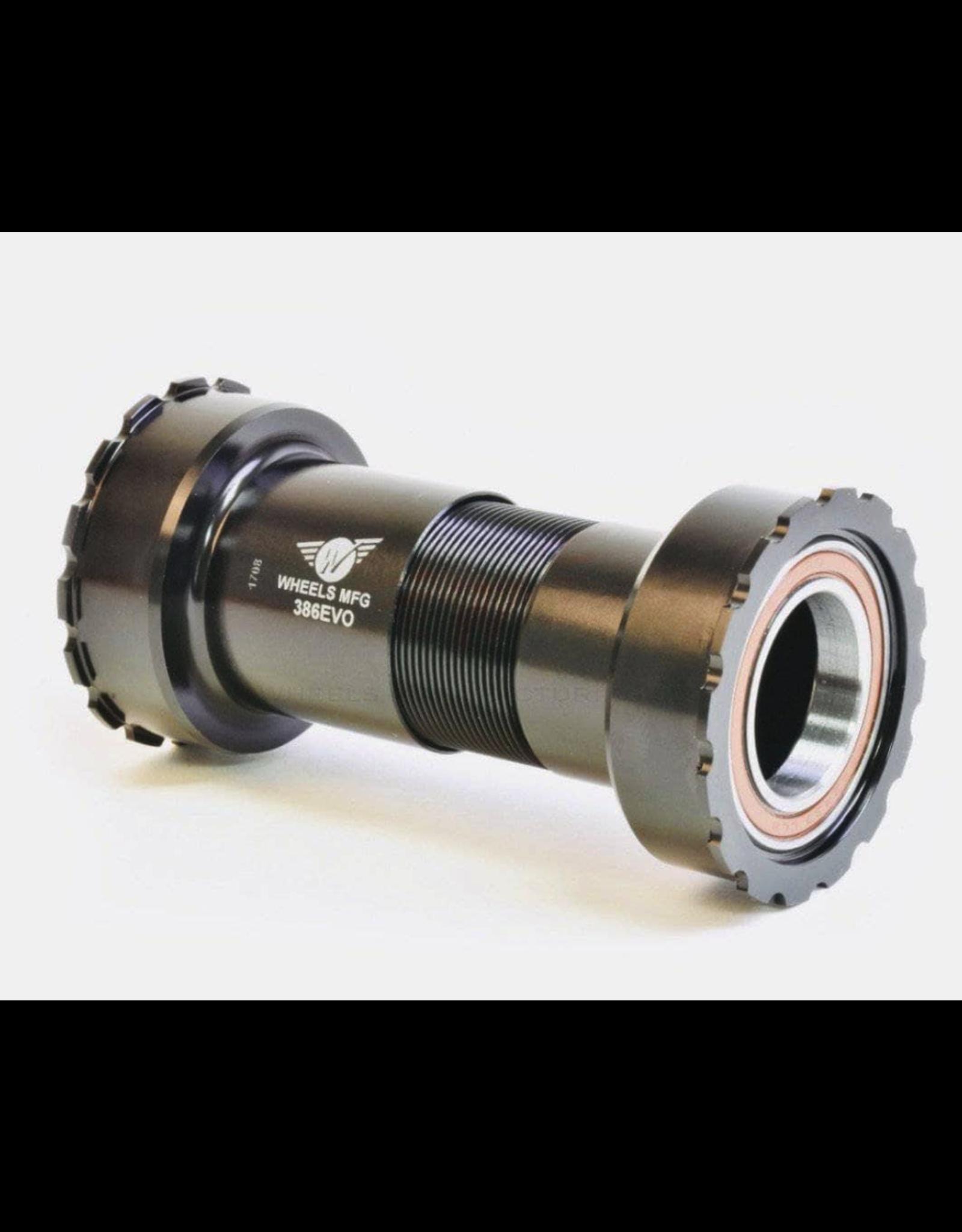 Wheels Manufacturing Wheels Manufacturing, 386EVO to External BB, Press Fit BB, BB386EVO, Spindle: 24mm, Width: 86mm, Diameter: 46mm