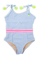 Shade Critters Shade Critters One Piece Cutout Back Pinstripe Pineapple