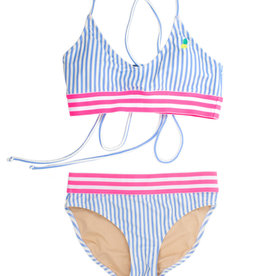 Shade Critters Shade Critters Two Piece Tie-Back Bikini Pineapple Stripe