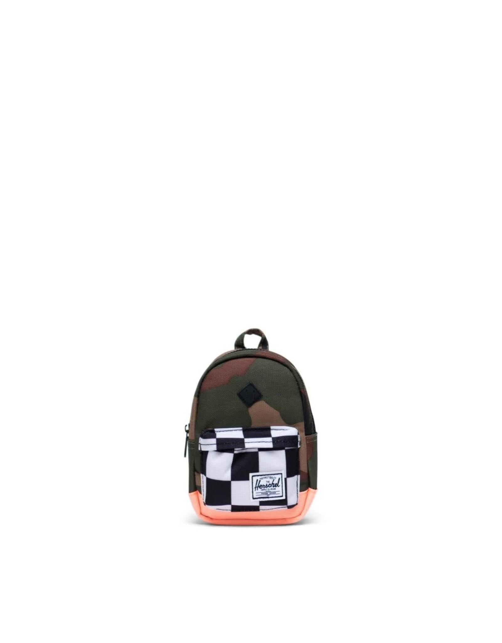 Herschel Herschel Heritage Case Woodland Camo/Black & White Checker/Neon Orange