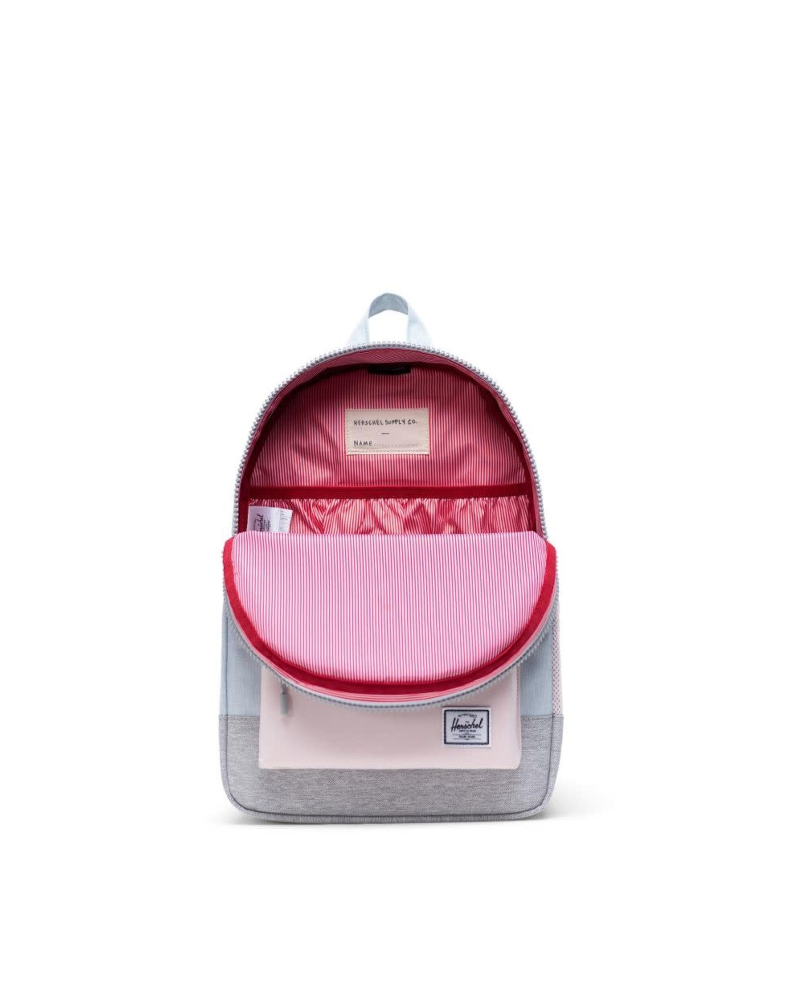 Herschel Herschel Heritage Backpack Youth Ballad Blue Pastel Crosshatch/Rosewater Pastel/Light Grey Crosshatch