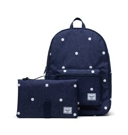 Herschel Herschel Settlement Backpack Sprout Polka Dot Crosshatch Peacoat
