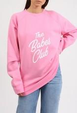 "Brunette The Label Brunette the Label ""Babes Club"" Big Sister Pullover"