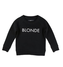 "Brunette The Label Brunette the Label ""BLONDE"" Little Babes Crew Neck Sweatshirt Black"
