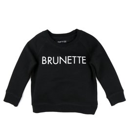 "Brunette The Label Brunette the Label ""BRUNETTE"" Little Babes Crew Neck Sweatshirt Black"