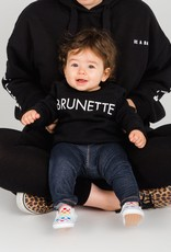 "Brunette The Label Brunette the Label ""BRUNETTE"" Little Babes Crew Neck Sweatshirt Black"