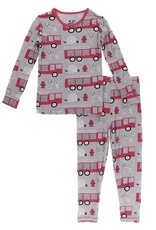 Kickee Pants Kickee Pants Everyday Heroes Print Long Sleeve Pajama Set