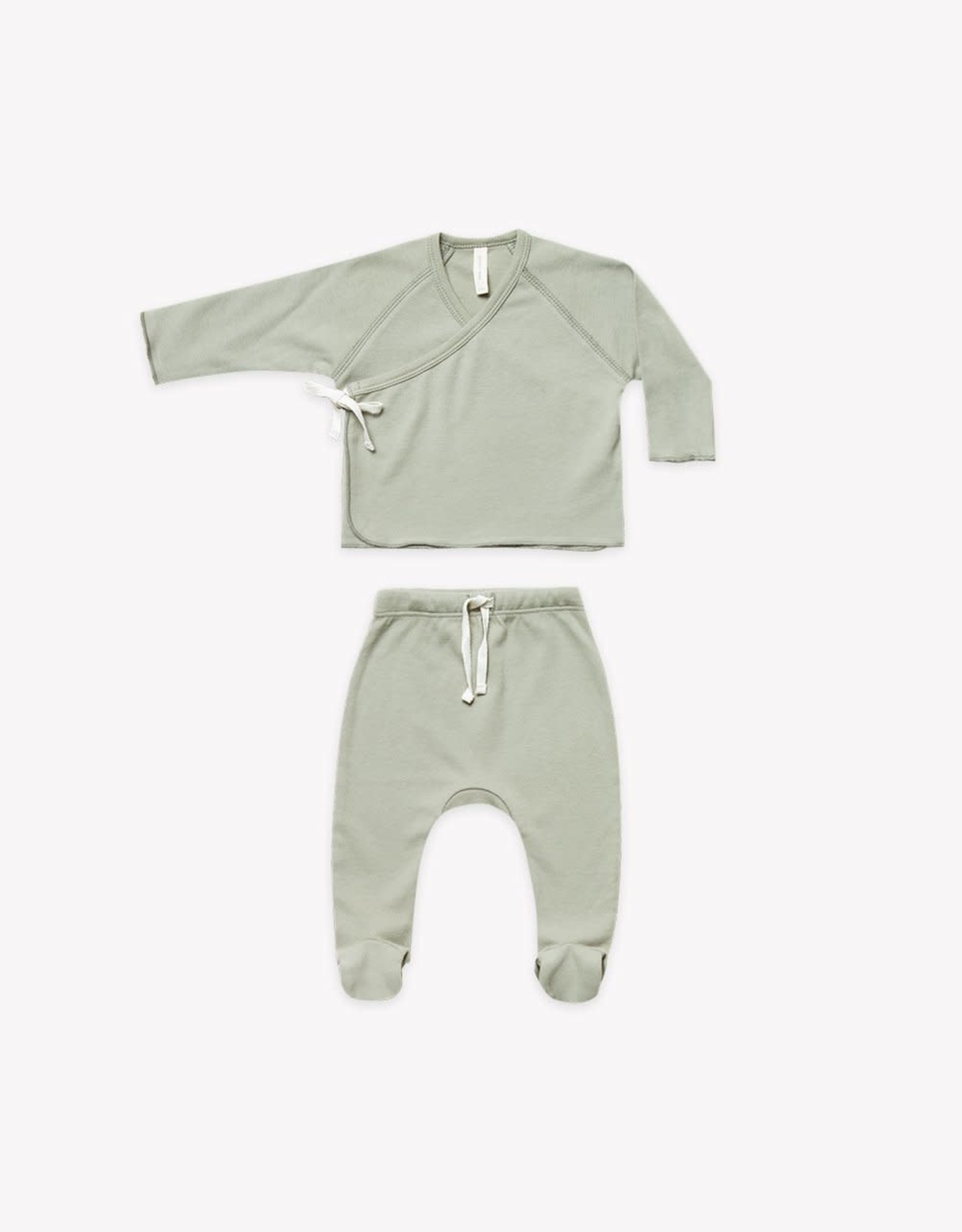 Quincy Mae Quincy Mae Kimono Top & Footed Pant Set