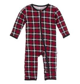 Kickee Pants Kickee Pants Holiday Print Coverall W/ Zipper