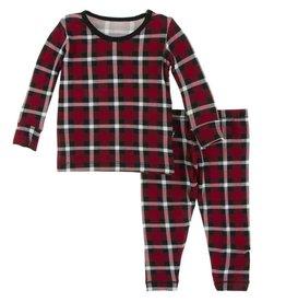 Kickee Pants Kickee Pants Holiday Print Long Sleeve Pajama Set
