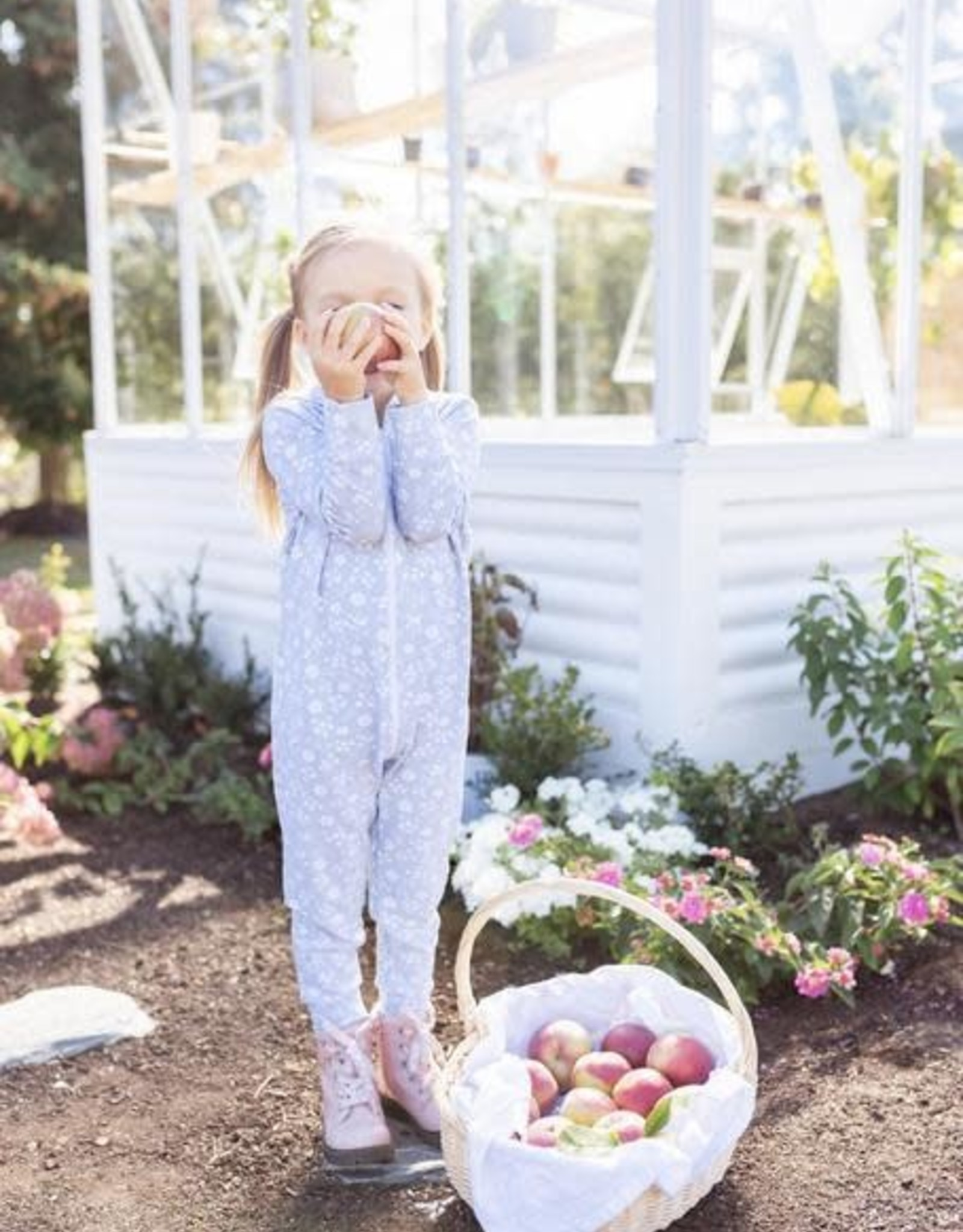 Tiny Button Apparel Tiny Button Apparel Hooded Zip Romper Toddler