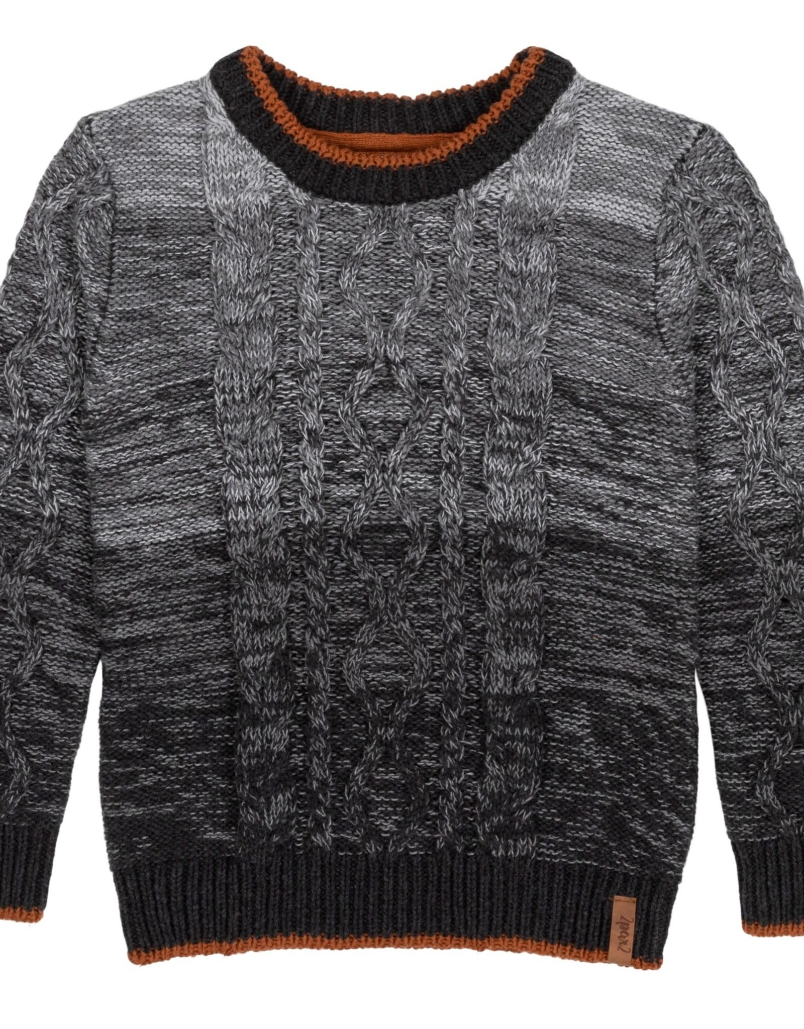 Deux Par Deux Deux Par Deux Gradient Cable Knitted Sweater