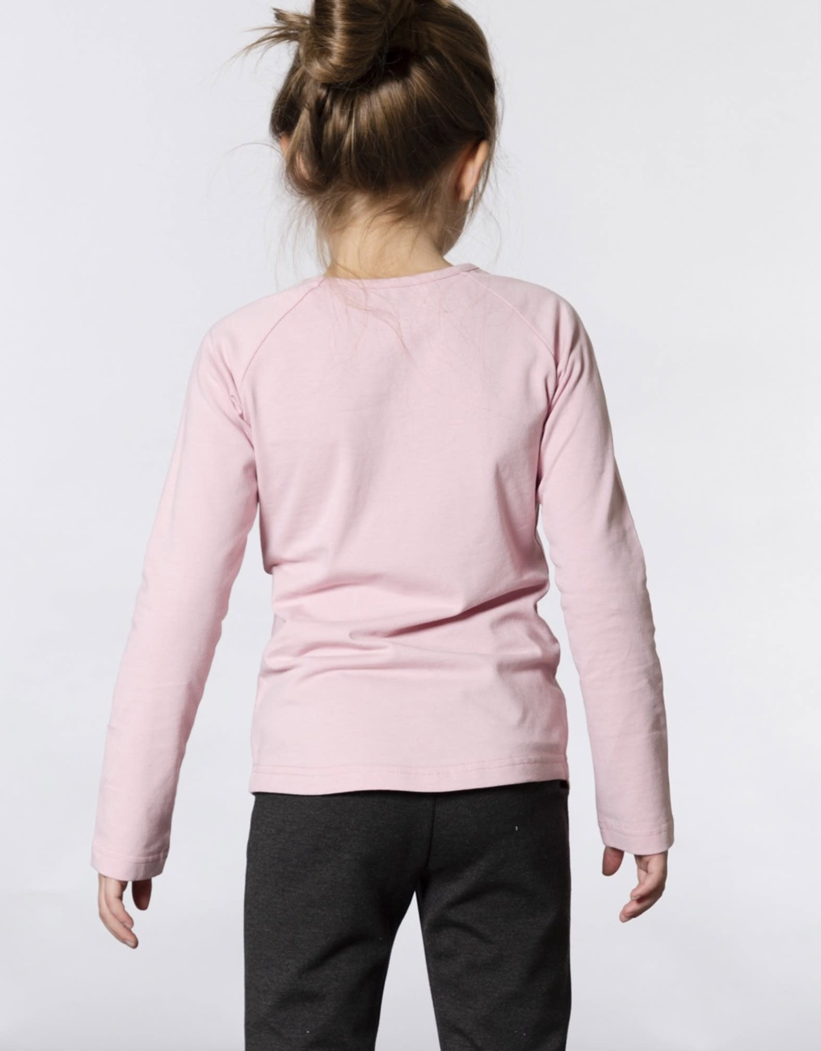 Deux Par Deux Deux Par Deux Pink Long Sleeve T-Shirt with Faux Fur Pockets Size 3
