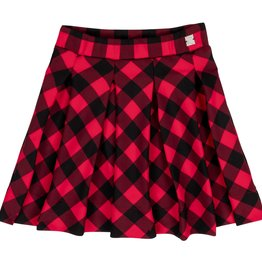 Deux Par Deux Deux Par Deux Plaid Milano Skirt Size 4