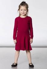 Deux Par Deux Deux Par Deux Red Knitted Sweater Dress