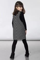 Deux Par Deux Deux Par Deux Striped Overall Jumper Dress with Sherpa Lined Pockets