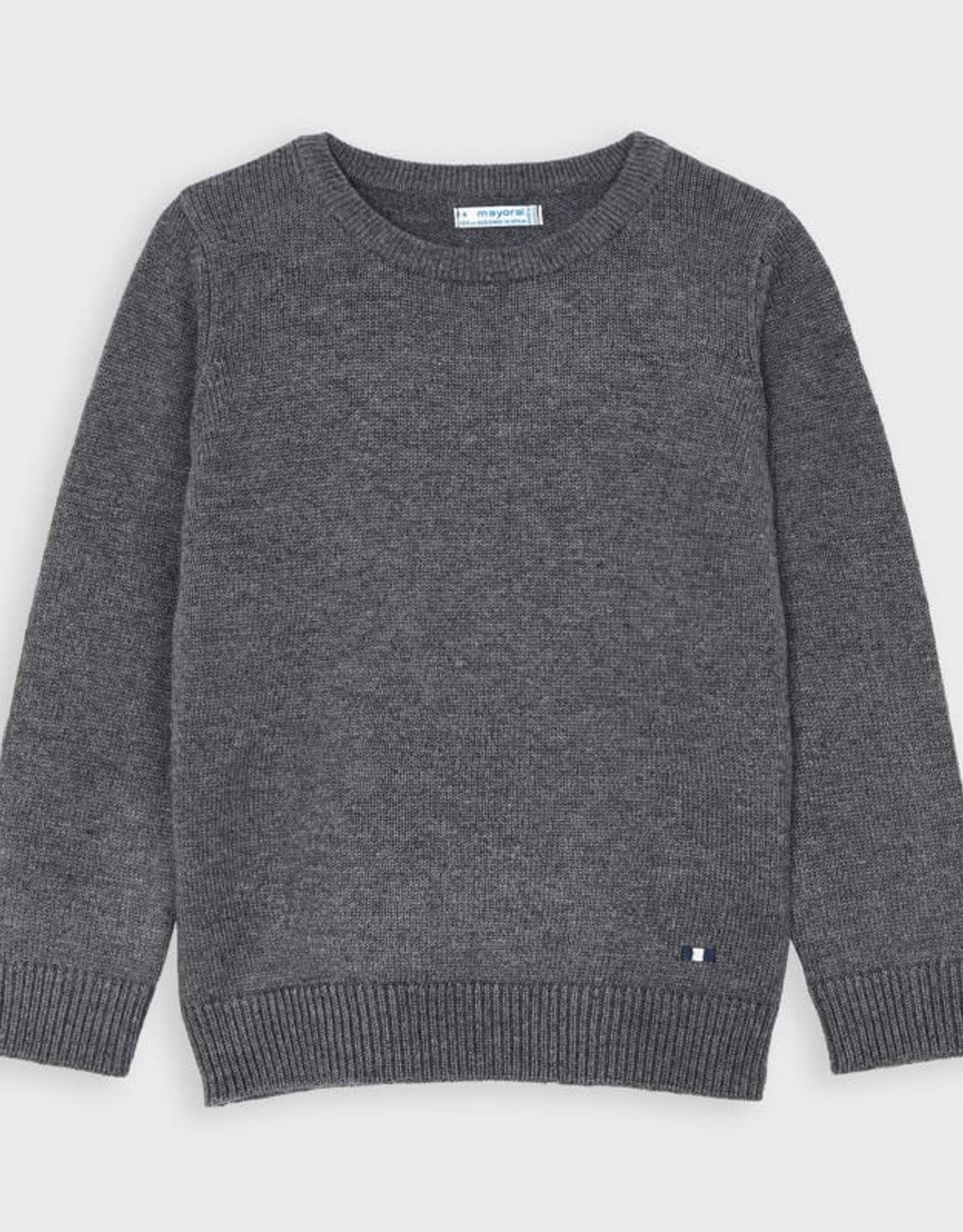 Mayoral Mayoral Basic Cotton Sweater W/ Round Neck