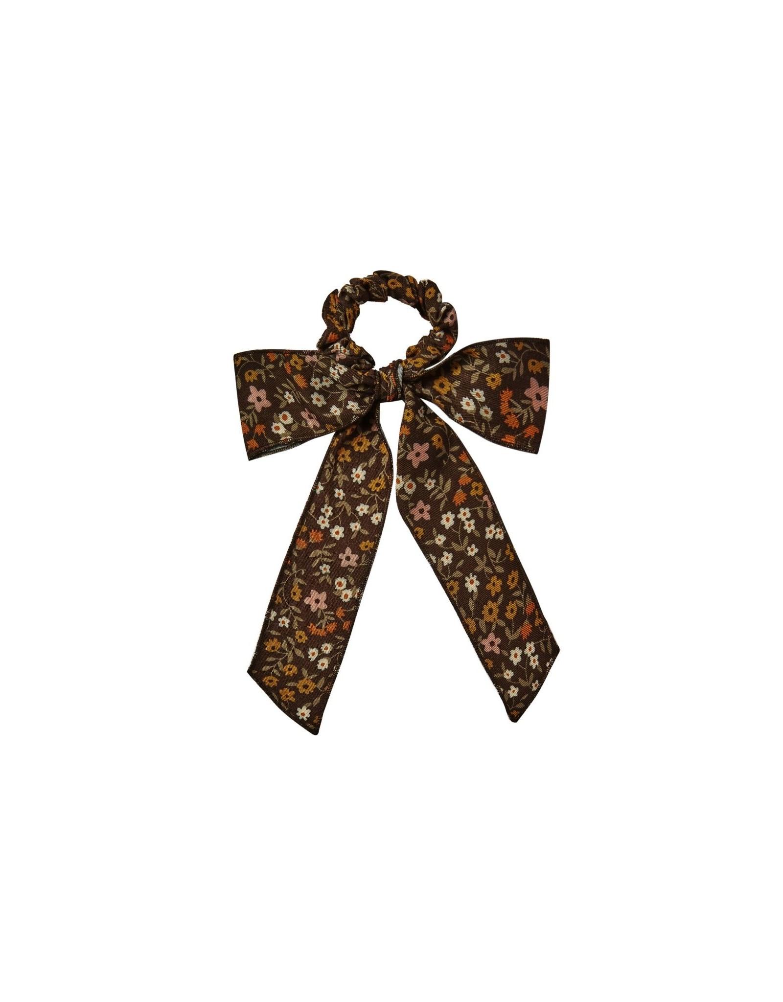 Rylee & Cru Rylee & Cru Bow Scrunchie Vintage Black