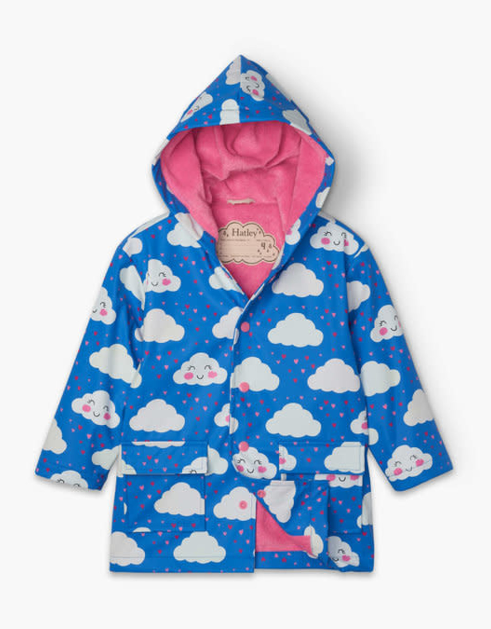 Hatley Hatley Baby Raincoat Cheerful Clouds Colour Changing
