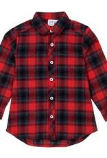 Deux Par Deux Deux Par Deux Red Tartan Flannel Shirt